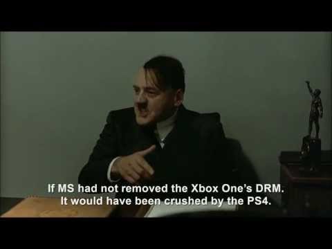 Hitler is informed Microsoft is removing the Xbox One's DRM