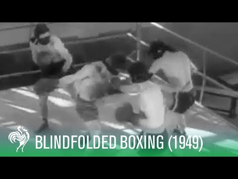 Blindfolded Mens Boxing - The New Sport of 1949