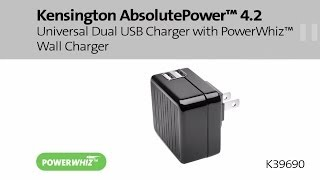 Kensington AbsolutePower 4.2 Universal Dual USB Charger with PowerWhiz Wall Charger