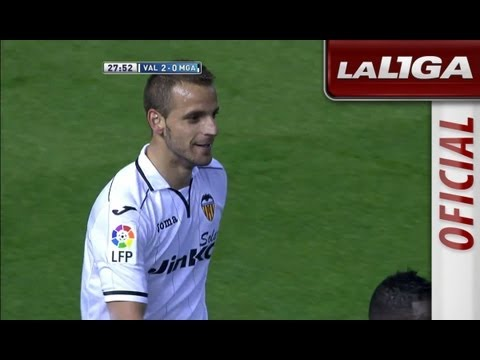 Gol de Roberto Soldado (2-0) en el Valencia CF - Málaga CF - HD