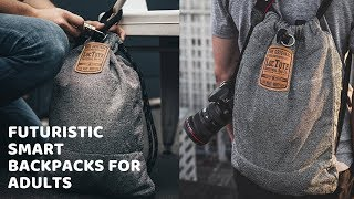 Futuristic Smart Backpacks for Adults