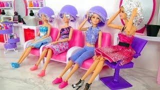 Rapunzel Barbie Dolls Makeover! Barbie Sparkle Style Salon kecantikan Boneka Barbie Friseursalon