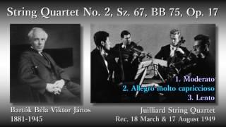 Bartók: String Quartet No. 2, JuilliardSQ (1949) バルトーク 弦楽四重奏曲第2番 ジュリアード弦楽四重奏団