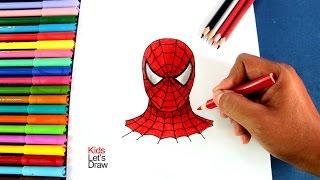 Cómo dibujar al Hombre Araña paso a paso | How to draw Spiderman's face