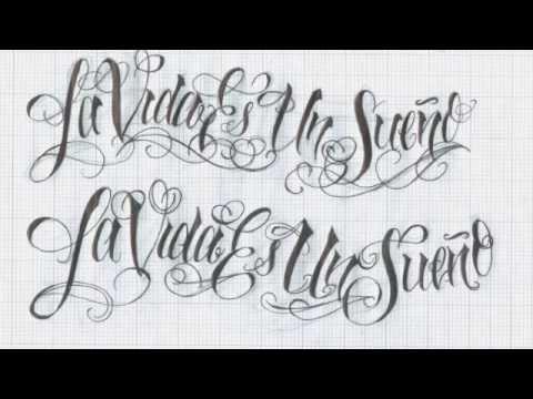 Fortfronleapfna Tattoo Script Lettering Alphabet