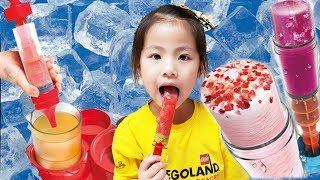 Seoeun Pretend Play Chef for Making Fruit Ice Cream