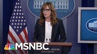 Allison Janney Surprises Press At White House Briefing   MSNBC