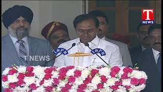 CM KCR Oath Taking Ceremony | Governor Narasimhan | Raj Bhavan  Telugu