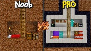 Minecraft NOOB VS PRO SECRET BASE IN MY ZOMBIE HOUSE !! Minecraft Mods