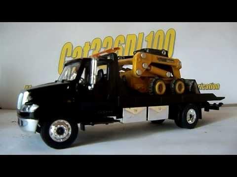 1/64 Green Light International Dura Star 4400 Flatbed tow truck review.