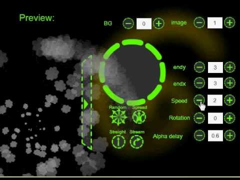 Flash particle engine IV - particle editor Video