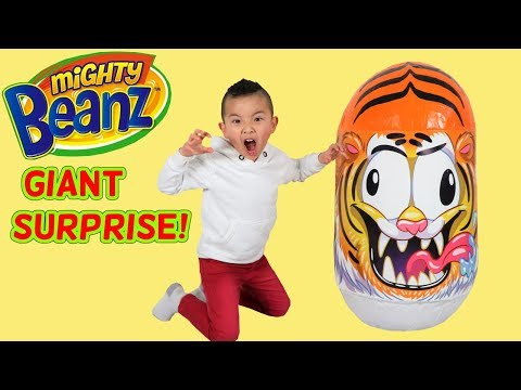 BIGGEST Mighty Beanz Surprise Egg with Funny Beanz Inside! Ckn Toys