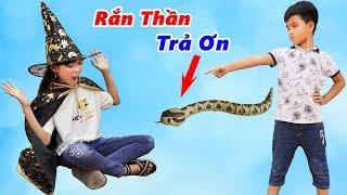 Rắn Thần Trả Ơn Và Mụ Phù Thủy Độc Ác ♥ Min Min TV Minh Khoa