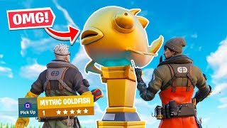 *WORLD FIRST* MYTHIC FISH in Fortnite! Fortnite Chapter 2 Challenge!