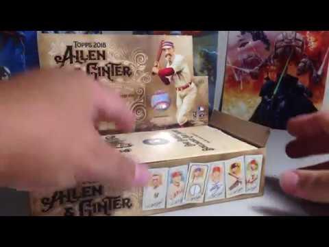 2018 Topps Baseball Cards Opening Series #15 - Hobby Box #1 Of 2018 Allen & Ginter