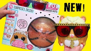 LOL Biggie Pets Big MC Hammy ! Toys and Dolls Fun for Kids Opening Eye Spy Blind Bags | SWTAD