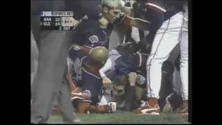 David Justice Charges Mound, Throws Helmet