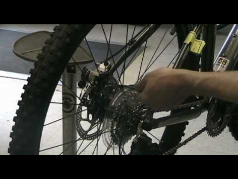 Mountain Bike disc brake adjustment