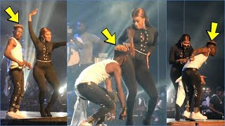 Shatta Wale Kisses Wendy Shay Tθt0 on Stage @Wonderboy Concert!