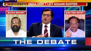 Arnab Goswami - The Debate - Bangladeshi in Assam