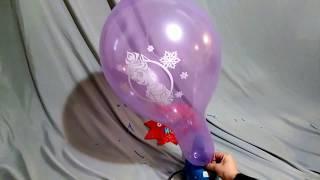 PRINCESS ELSA FROZEN BALLOONS PUMP TO POP!