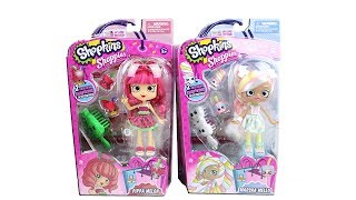 Shopkins Shoppies Doll Marsha Mello and Pippa Melon Unboxing Toy Review