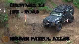 Jeep Cherokee Xj 4.0 HO with nissan patrol axles off road