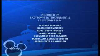 Disney Channel Scandinavia - LAZYTOWN - Ending Credits / Outro