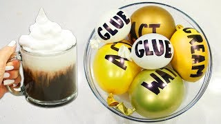 Making Satisfying & Realistic Coffee Slime with Balloons!