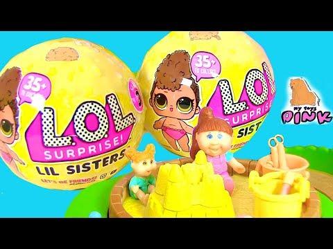 LOL Surprise Series 3 Lil Sisters СЮРПРИЗЫ КУКЛЫ ЛОЛ 3 СЕРИИ! БАРБИ - НЯНЬКА 2017 | My Toys Pink