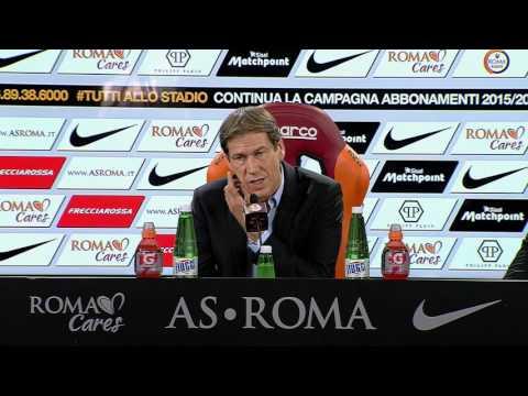 Garcia in conferenza stampa pre Inter-Roma 30.10.15 (VIDEO INTEGRALE HD)