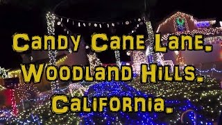 Candy Cane Lane, Woodland hills. California.