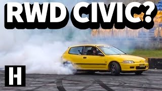 RWD Honda Civic!? Wild SR20 Powered EG Hatch