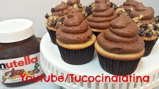 COMO HACER BUTTERCREAM DE NUTELLA Y CHOCOLATE