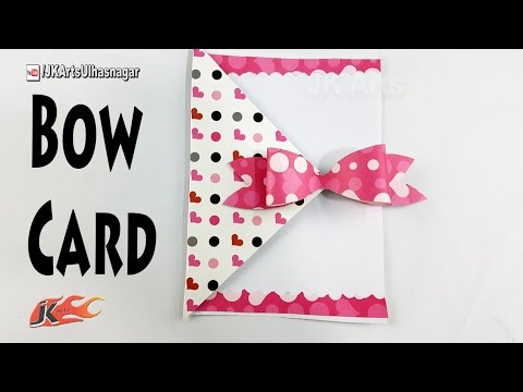 How To Make A Bow Card  | DIY Easy card for Scrapbook pages  | JK Arts 1217