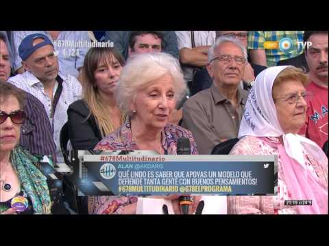 #678Multitudinario - Estela de Carlotto - 17-12-15