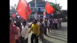 Aituc Other State workers Protest in Uzhavoor 1