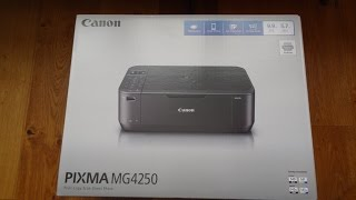 Unboxing and setup of a Canon PIXMA MG4250 All-In-One Wi-Fi Printer