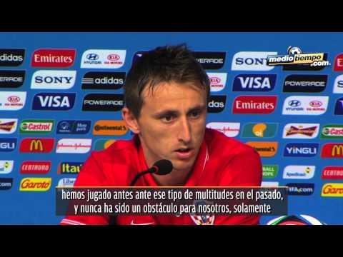 Luka Modric 'prendió' el duelo ante el Tri