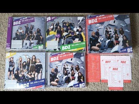 """トゥワイス TWICE 1st Full Album """"BDZ"""" Unboxing"""