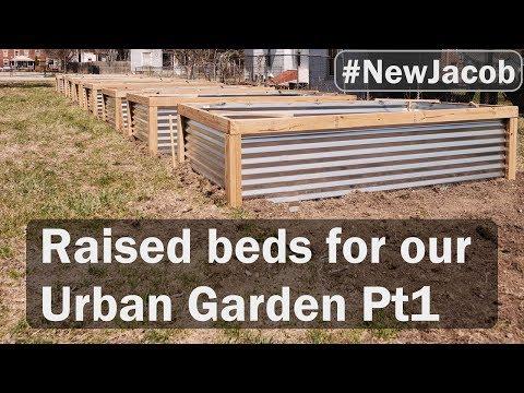 Garden boxes PT1 building raised beds for our urban garden