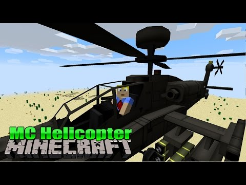 Flugzeuge & Helicopter   MC Helicopter - Minecraft Mod Review