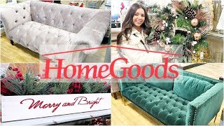 HOME GOODS SHOP WITH ME & HAUL! HOLIDAY DECOR & FURNITURE!