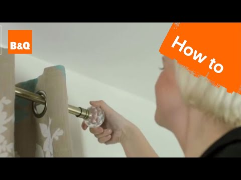 How to hang a curtain pole