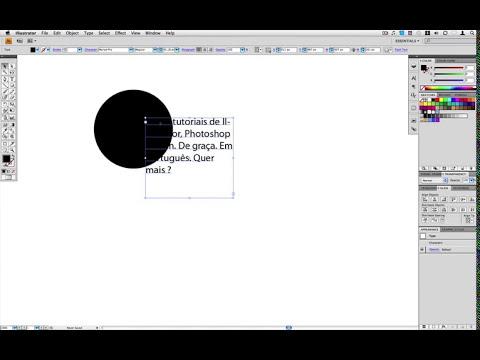 Tutorial Illustrator - Ferramenta de Texto