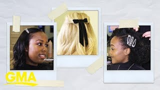 We tried barrettes for grown-ups -- 'hair's what happened | GMA Digital