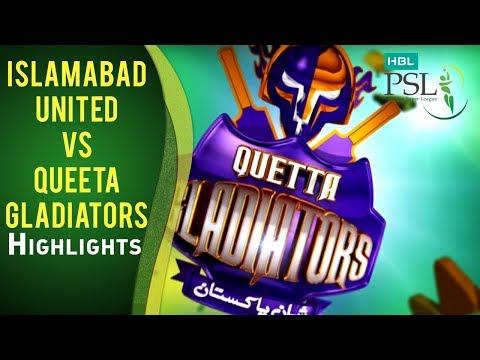 HBL PSL Final - Islamabad United vs Quetta Gladiators - Highlights