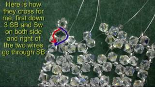 Beading4perfectionists : Swarovski 4mm beaded chocker tutorial. 10 threads :-)