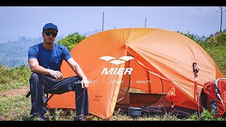 MIER 2-Person Backpacking Tent Easy Setup Lightweight Tent with Footprint, 3 Season & 4 Season Tent
