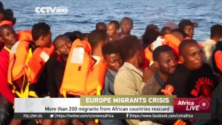 More than 200 migrants from African countries rescued